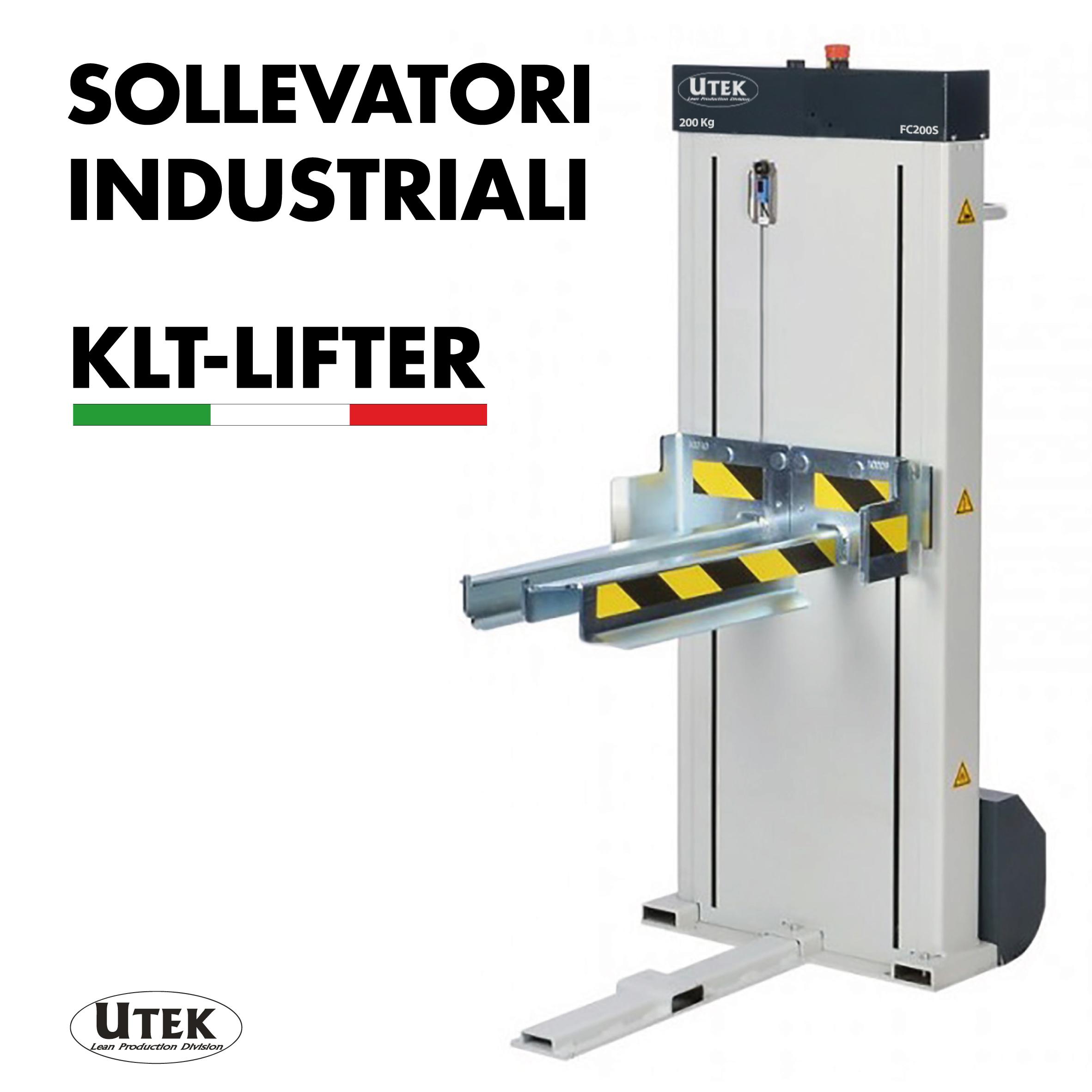 Sollevatori industriali Wuppermann KLB, Utek porta la produzione in Italia