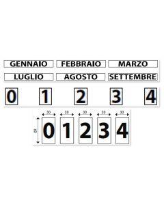 Set 0-9 numeri