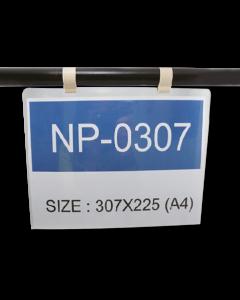 Porta etichetta sospensione per profilo tubolare