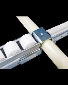 Supporto profilo rulli serie 40 ponte tubo / rulli